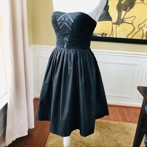 Donna Morgan LBD Flare Skirt Beading POCKETS!!